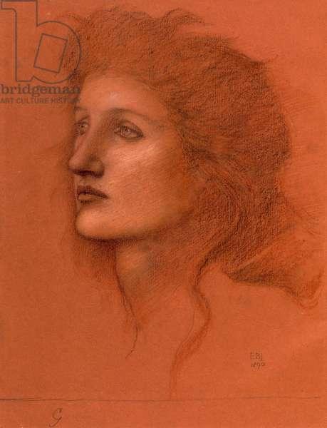 Female Head, 1890 (pastel on paper)