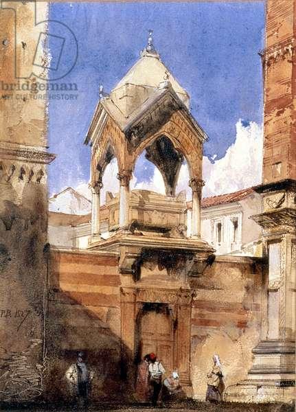 The Castelbarco Tomb, Verona, 1827 (w/c on paper)