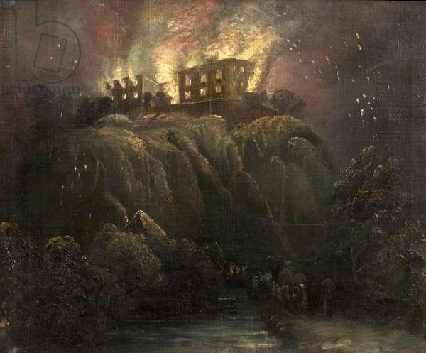 Nottingham Castle on Fire, 1831 (oil on canvas)