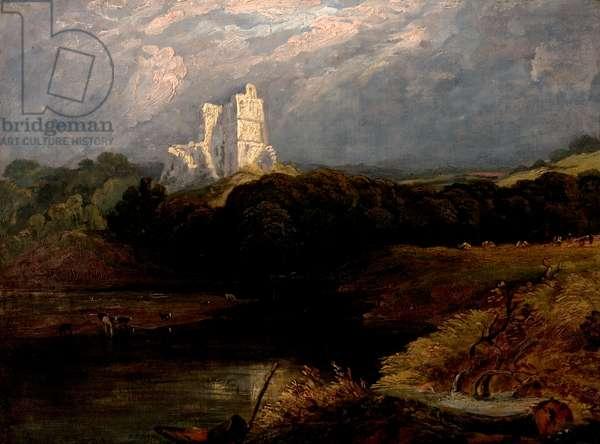 Norham Castle, Northumberland (oil on canvas)