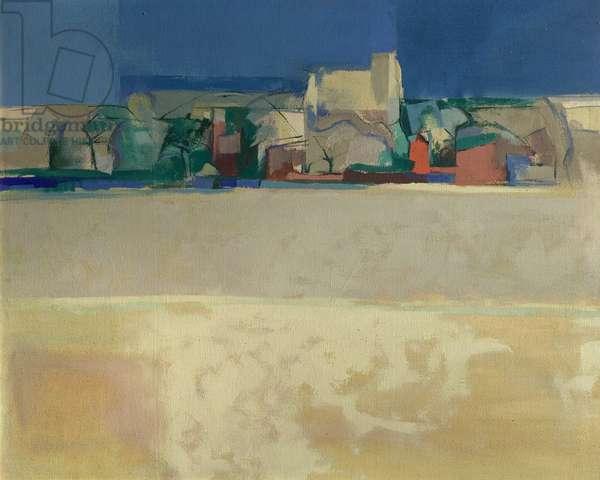 Salthouses, Norfolk, 1966 (acrylic on canvas)
