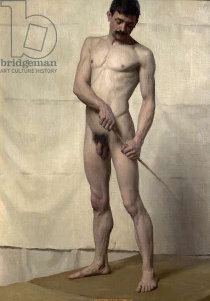 Standing Male Nude, 1896 (oil on canvas)