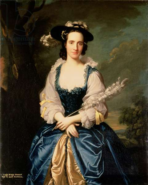 Portrait of Lady Mary Stewart, wife of Kenneth Mackenzie, Lord Fortrose, 1749 (oil on canvas)