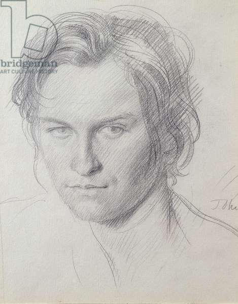 Portrait of Henry Lamb (1885-1960) c.1908 (pencil on paper)