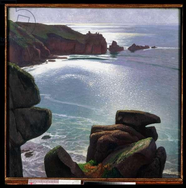 Rocks and Sea, 1923 (oil on canvas)