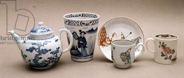Collection of Liverpool porcelain, 1755-60 (porcelain)