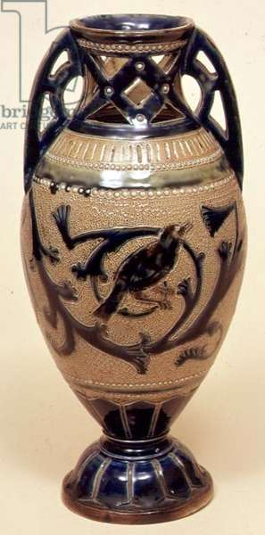 Bailey vase decorated by E.Bennett, 1888 (stoneware)