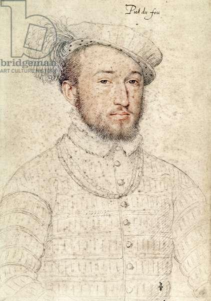 Rene (c.1528-70) Seigneur of Puy du Fou, c.1558 (pencil on paper)