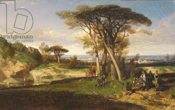 Landscape or, Don Quixote, 1834 (oil on canvas)