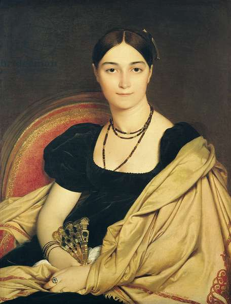 Portrait of Madame Antonia de Vaucay (or Devaucay) nee de Nittis, 1807 (oil on canvas)