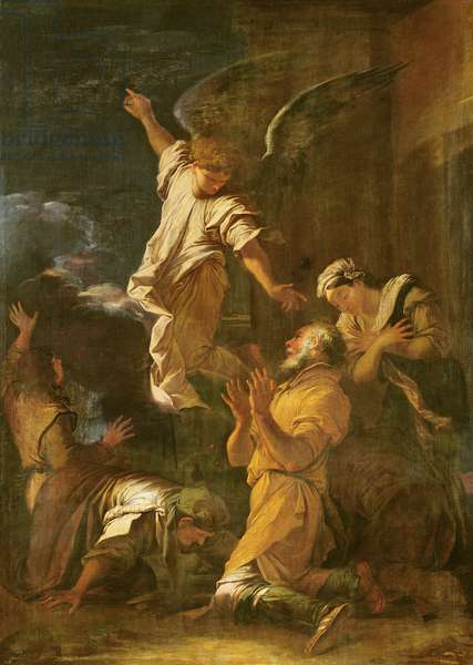 The Revelation of the Archangel Raphael or, Tobias and the Angel (oil on canvas)