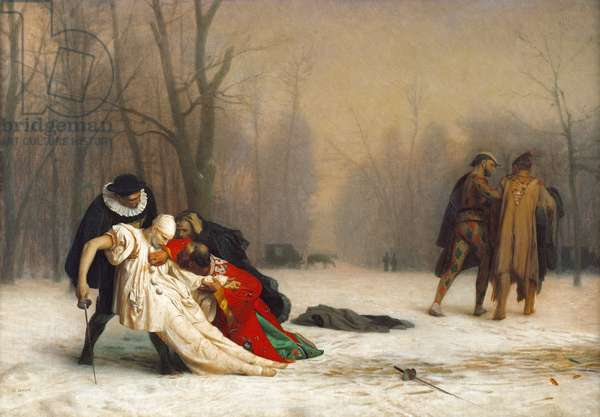 At the End of the Masked Ball, 1867 (oil on canvas)