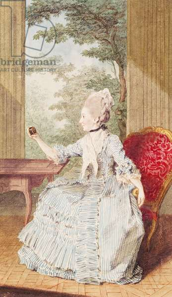 Mademoiselle Gamache (b.c.1729) Countess of Forbach, Duchess of Deux-Ponts, 1769 (pencil, w/c & gouache on paper)