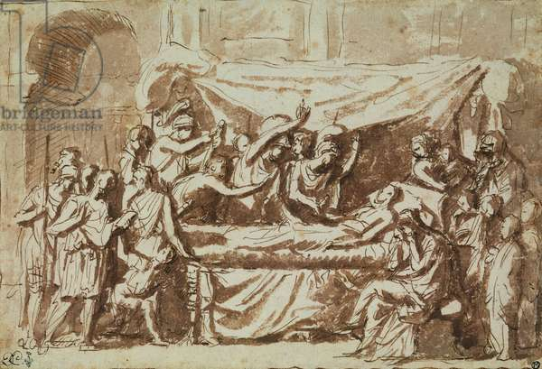 The Death of Germanicus (15BC-19AD) c.1630 (pen & ink on paper)