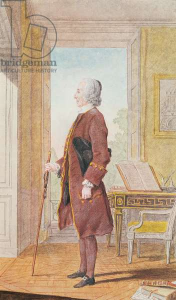 Monsieur l'Abbe Allaire (d.1775) private tutor to the Duke of Orleans, 1760 (w/c on paper)