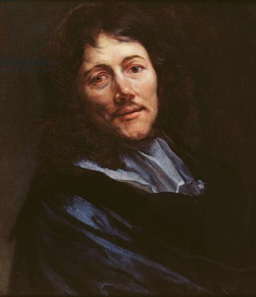 Portrait of the writer Claude Emmanuel Lhullier, known as Chapelle (oil on canvas)