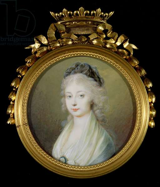 Marie-Therese-Charlotte (1778-1851) Duchess of Angouleme (w/c on ivory)