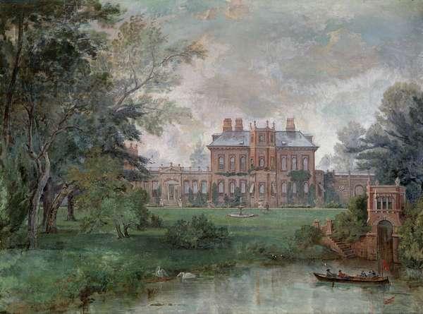 Orleans House, Twickenham (oil on canvas)