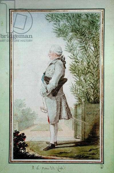 Louis-Joseph de Bourbon (1736-1818) Prince de Conde, 1762 (pencil, w/c & gouache on paper)