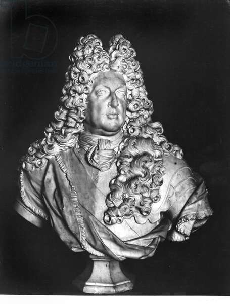 Armand Jean de Vignerot du Plessis (1640-1715) Duc de Richelieu, 1700 (marble) (b/w photo)