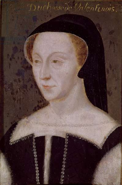Diane de Poitiers (1499-1566) (oil on panel)