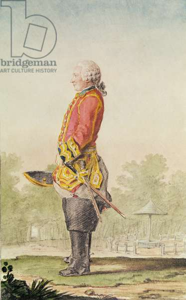 Jean Baptiste Antoine Gobert, known as Aubin, c.1762 (pencil, w/c & gouache on paper)