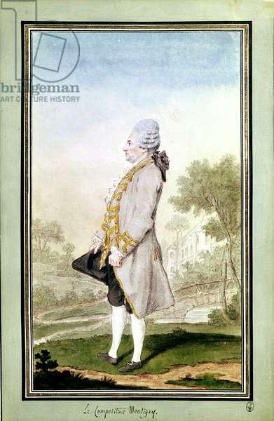 Pierre Alexandre Monsigny (1729-1817) 1774 (pencil, w/c & gouache on paper)