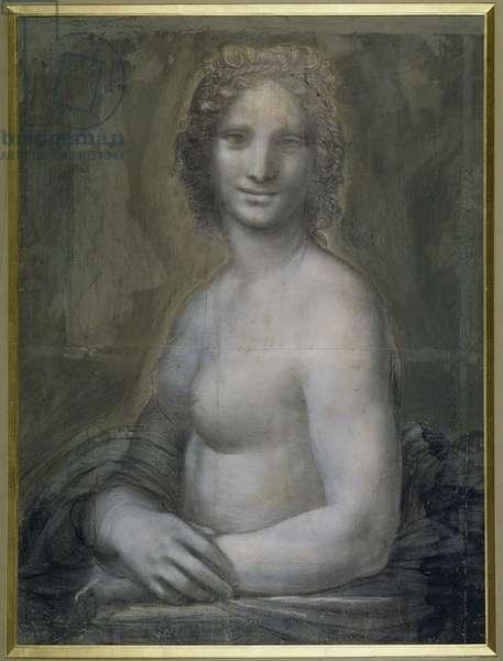 La Gioconda Nude (gouache & black chalk on paper)