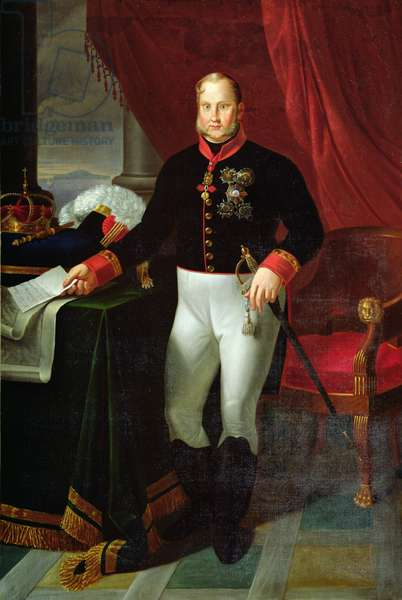 Portrait of Francesco I (1777-1830) King of the Two Sicilies. 1826 (oil on canvas)