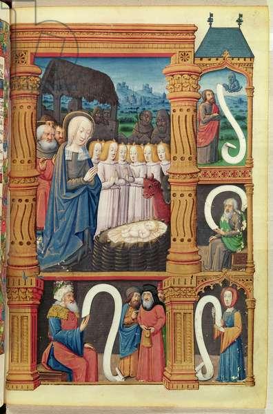 Nativity, from 'Heures de Marguerite de Coetivy' (vellum)