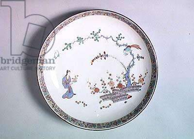 Plate with a Far Eastern design, from Chantilly (porcelain)