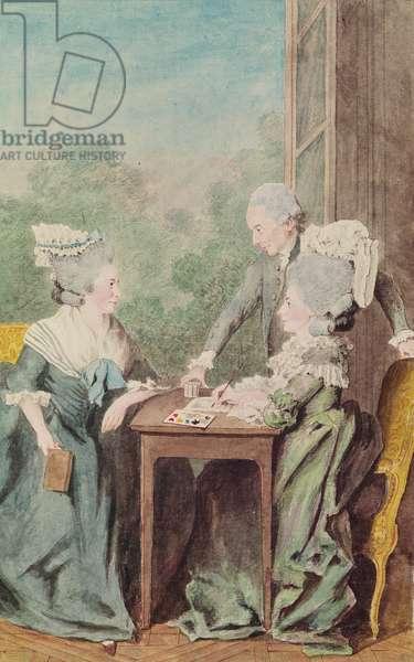 Madame de Monthule, Monsieur et Madame de Breget  (pencil, watercolour, gouache on paper) 1775-80