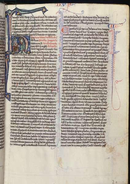 MS 1/1365 fol.20, Exodus, from Biblia Sacra (vellum)