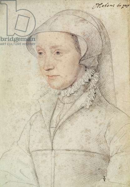 Madame du Parc, c.1555 (pencil on paper)