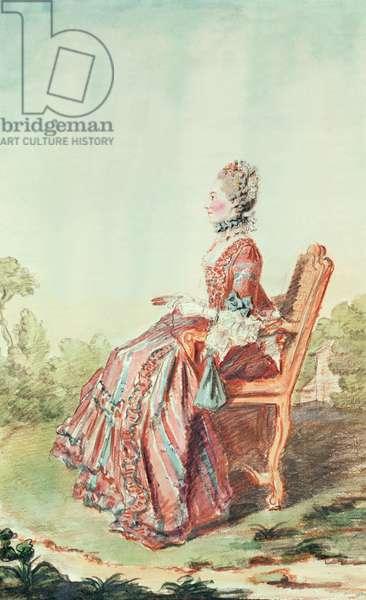 Madame Pecoul (pencil, watercolour and gouache on paper)
