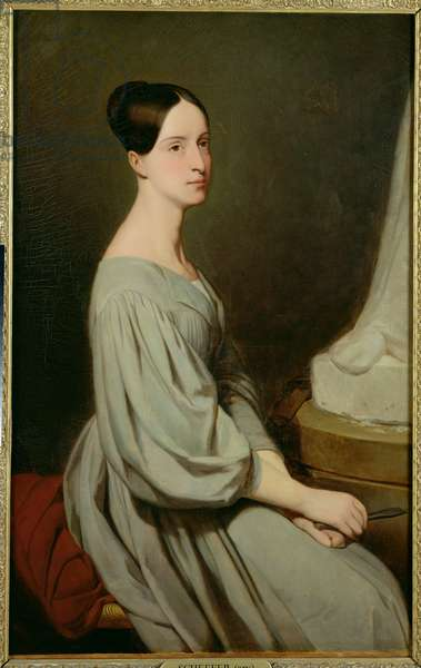 Marie of Orleans (1813-39) Duchess of Wurtemberg (oil on canvas)