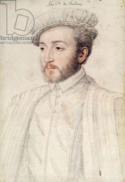 Charles de La Rochefoucauld (c.1523-62) Count of Randan (pencil on paper)