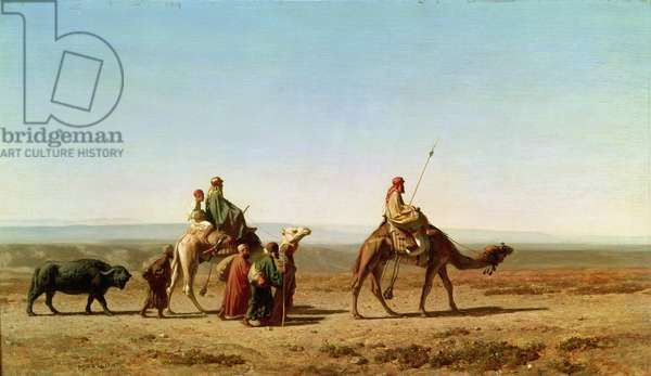 Syrian Arabs in the Desert, 1844 (oil on canvas)
