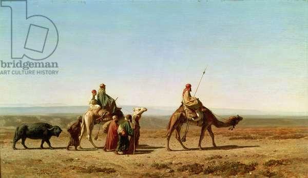 Syrian Arabs in the Desert, 1844 (oil on canvas)