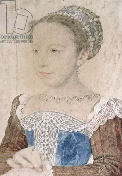 Marguerite de France (1553-1615) known as La Reine Margot, c.1560 (pencil & chalk on paper)