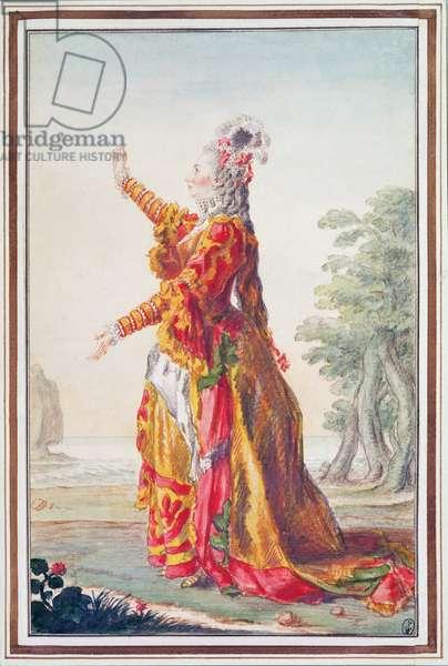 Mademoiselle Chevalier  (1720-99) 1769 (pencil, w/c & gouache on paper)