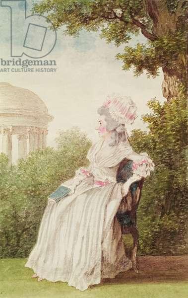 Madame de Vannes 1780 (pencil, watercolour and gouache on paper)