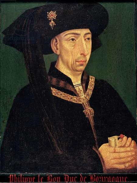 Philippe III (1396-1467) 'Le Bon', Duke of Burgundy (oil on panel)