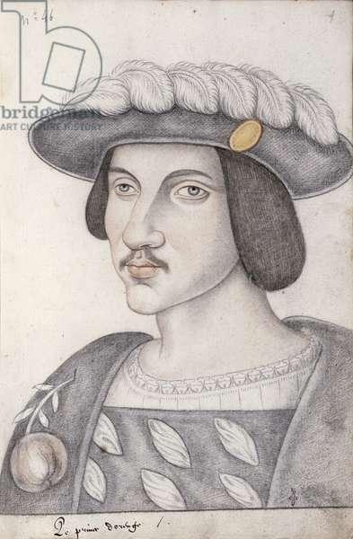 Portrait of Philibert de Chalon (1502-30) Prince of Orange (pencil on paper)