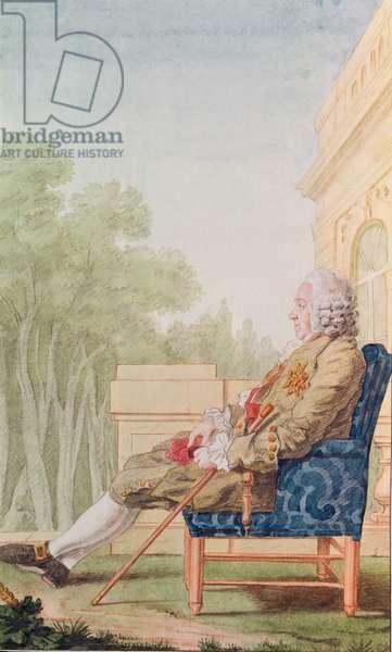 Maurice (1693-1766) Comte de Courten, Lieutenant Colonel of the Swiss Guards, 1764 (pencil, w/c, gouache & red chalk on paper)