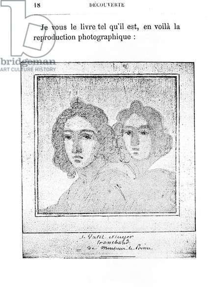 Double Portrait of Francois Vatel (1631-71) (b/w photo)
