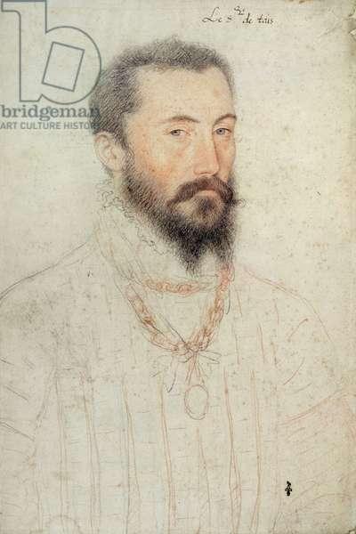 Jean, seigneur de Thiais (1510-53), c.1550 (pencil on paper) (see also 233151)