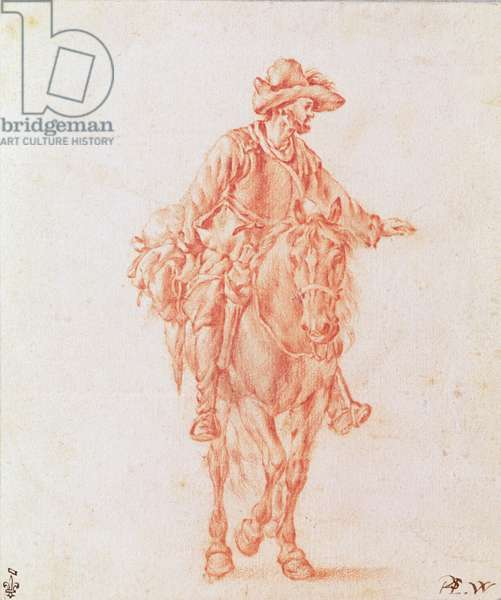 The Horseman (red chalk on paper)
