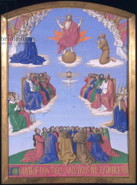 Ms Fr 71 Fol.40 The Ascension of the Holy Spirit (vellum)