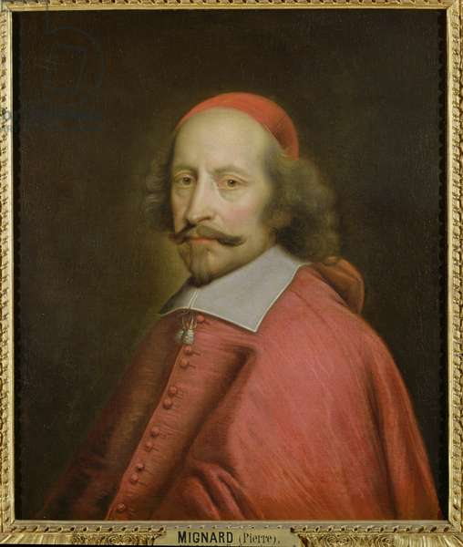 Portrait of Cardinal Jules Mazarin (1602-61) 1658-60 (oil on canvas)